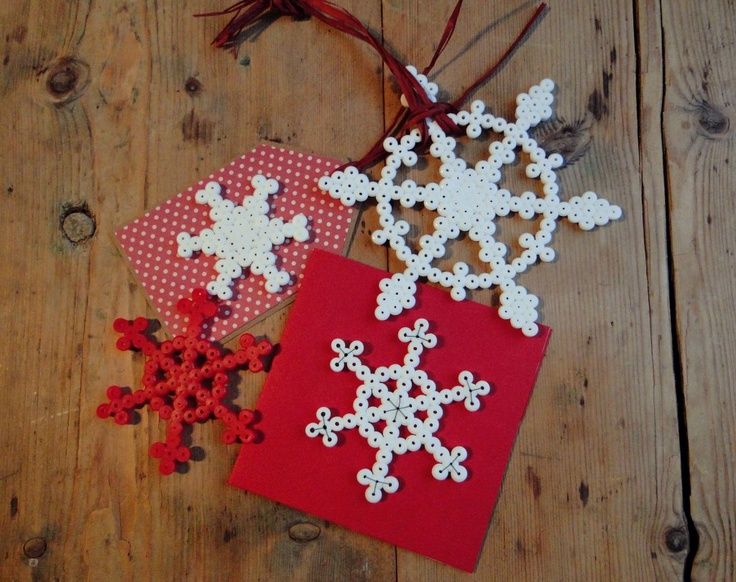 Christmas hama bead snowflakes ornaments