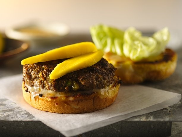 Indian Curry Burgers with Chutney Mayo