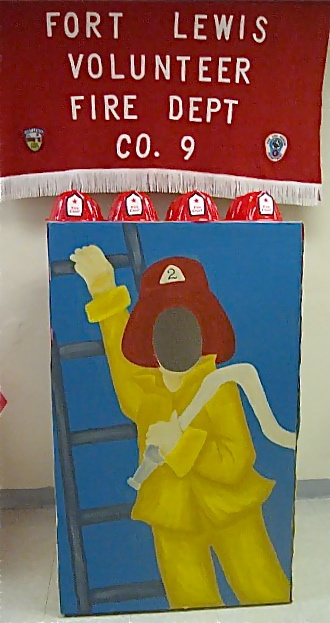 "A Firetruck Party - A ""Faceless"" Fireman For Photo Opportunities - Handmade.- can do on poster board."