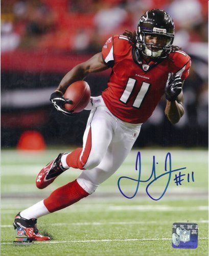 Julio Jones Autographed Atlanta Falcons 8x10 Photo by DenverAutographs. $49.99. This is a Atlanta Falcons 8x10 photo which has been personally signed by Julio Jones. After being selected All-American honors and helping the Alabama Crimson Tide to a national championship in 2010 he was selected with the sixth overall pick by the Atlanta Falcons. He quickly became one of Matt Ryan's favorite targets during his rookie season in 2011 recording 8 touchdown, 54 catches for 959 yards...