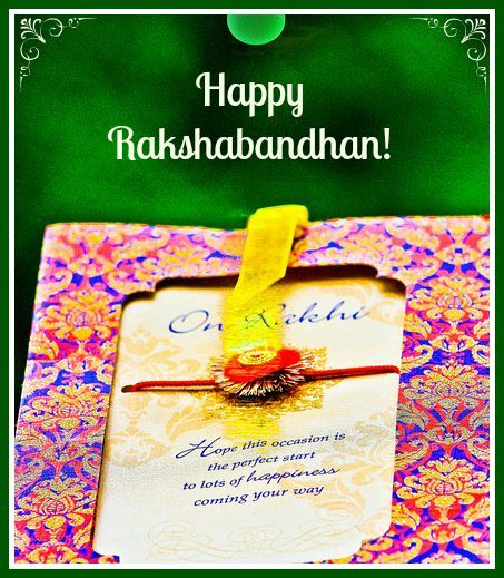 Happy Rakshabandhan!! Enjoy your gifts and sweets!