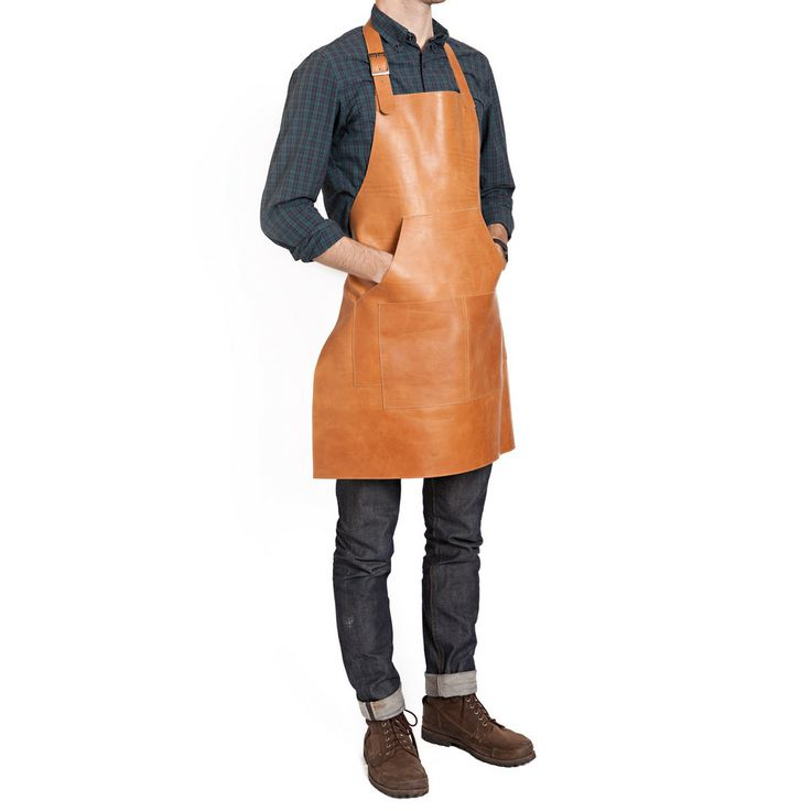 Capps Leather Work Apron | Cloth & Metal