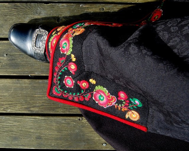 Traditional Norwegian Bunad embroidery work