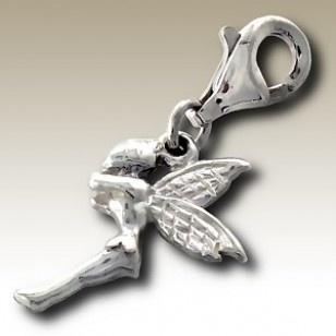 alisilverjewellery.com: Charms with Lobster , Pixie charm with lobster - finishing: Sterling silver+E-coat - size: 1.0x1.3cm.