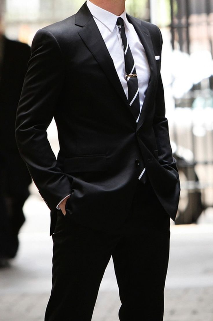 The 30 best images about Black suit - tie - shirt combos on ...