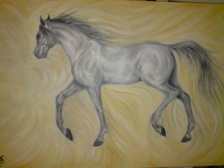Desert Wind ~ Block Mounted Oil Painting by Dawn Du Preez #DawnDuPreez