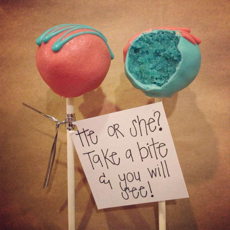Gender Reveal Cake Pops! @Kelsey Myers Myers Turner  is this too hard?