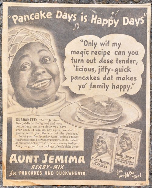 This is a crazy Aunt Jemima sign but I love it! Her face looks a little scared.