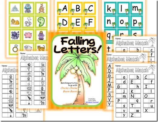 {FREEBIE} Falling Letters!: Matching activities to go with Chicka Chicka Boom Boom: Chicka Chicka, Fall Letters, Alphabet Cards, Boom Boom, Matching Activities, Chicka Boom, Boom Activities, Letters Matching, Free Printable