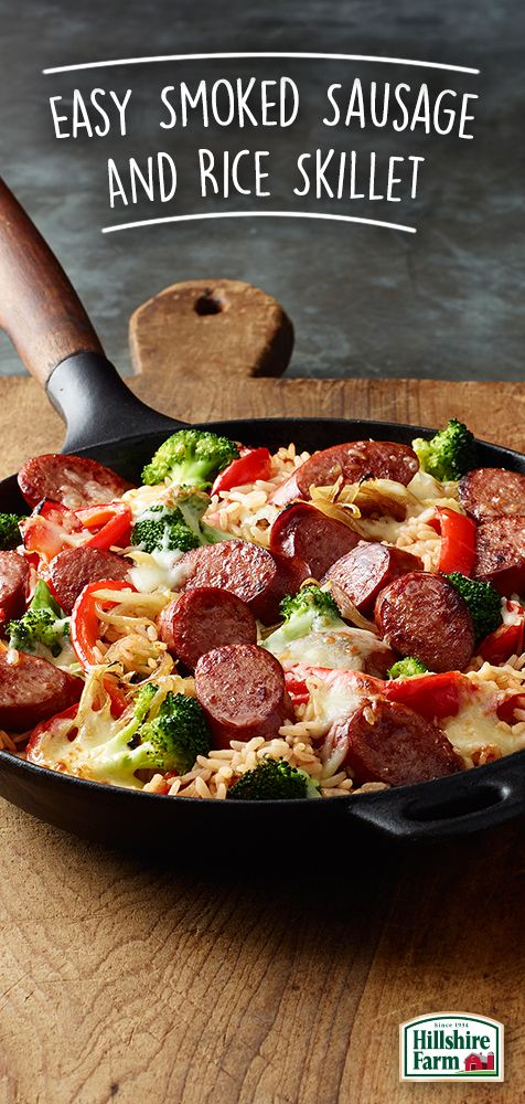 Looking for fun, new, and delicious ways to use Hillshire Farm® Smoked Sausage? Our Easy Smoked Sausage and Rice Skillet recipe made with Success Rice® is super easy to make... and super tasty too!