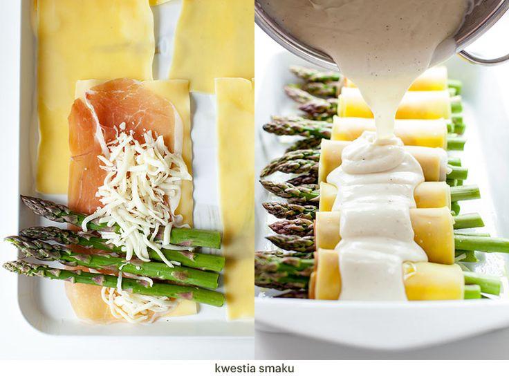 Cannelloni ze szparagami zapiekane z sosem beszamelowym i serem | Kwestia Smaku