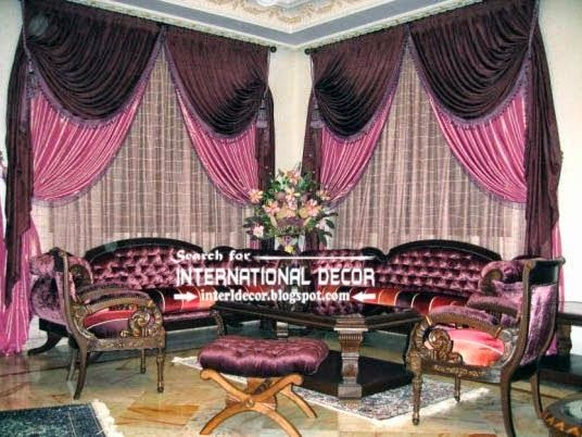 Stylish Pink And Black Curtains For Luxury Living Room Pinterest Curtain Designs