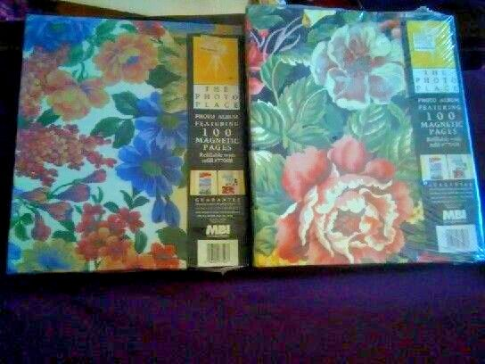 2 Vintage Floral 100 page Magnetic Photo Album-New In Pkg #ThePhotoPlace #photography #photoalbum #magnetic #vintage #retro #midcentury #pics #floral