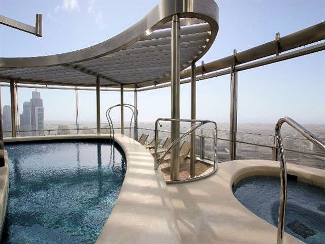 Dubai's Burj Khalifa building is the tallest in the world. Armani residences are available in ...