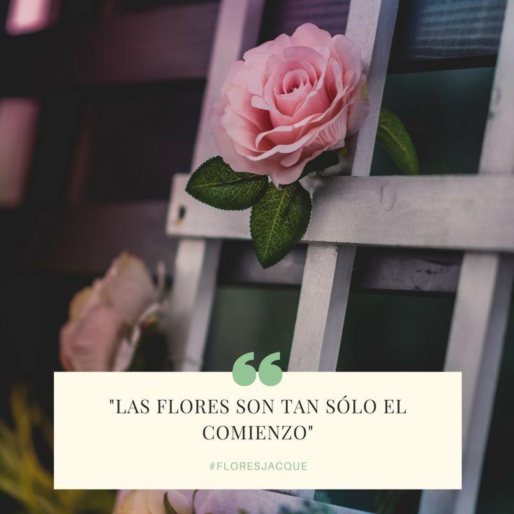 En Floristeria Jacquelinelas #flores son tan Sólo el Comienzo, Del #amor la #conquista #gratitud