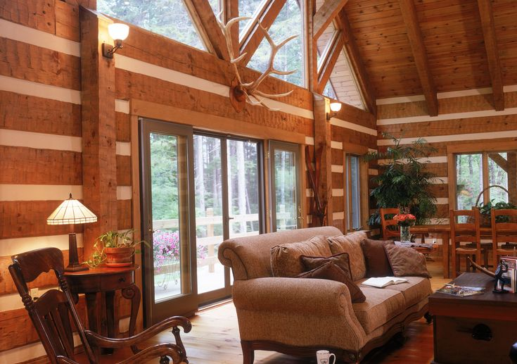 17 best images about log home interiors on pinterest serving bowls stains and candle sticks. Black Bedroom Furniture Sets. Home Design Ideas