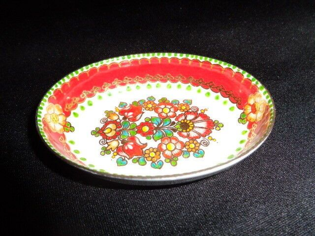 Vintage painted enamel trinket dish Email Studio Stenbock Austria Mother/'s Day