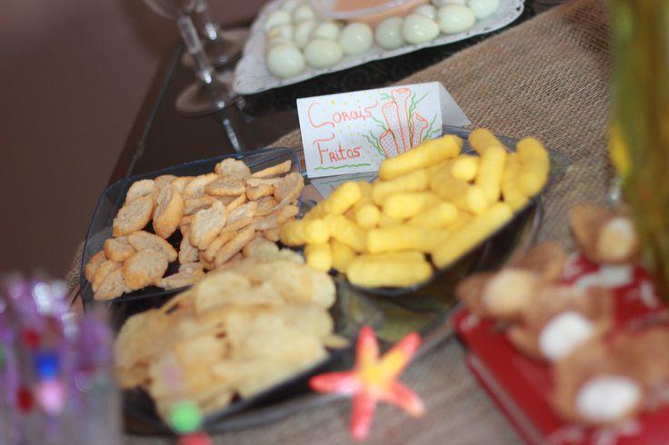 """""""Corais fritos"""" Biscoitos para festa pequena sereia:Ariel"""