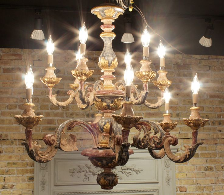 Vintage Italian Chandelier in Painted Wood with Blue Rust and Gold - SOLD - - Best 25+ Italian Chandelier Ideas On Pinterest Designer