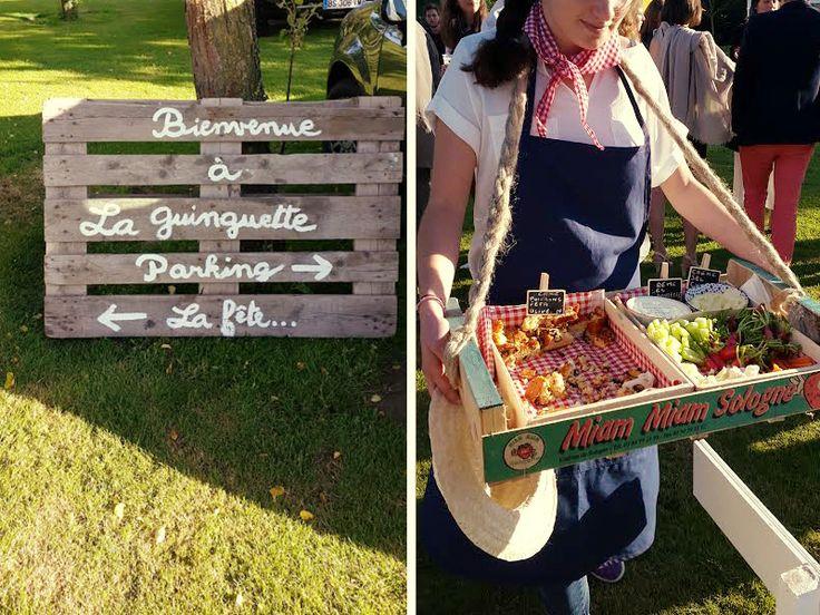 Des cagettes peintes ou natures en guise de plateau... Achetez vos fruits en cagette des aujourd'hui ! À la fin un feu de joie et c'est propre!