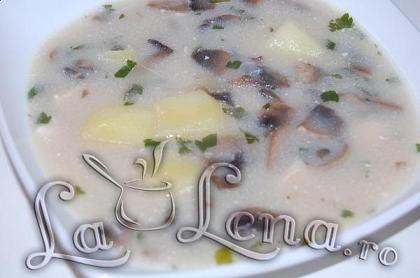 Supa-crema cu ciuperci si pui