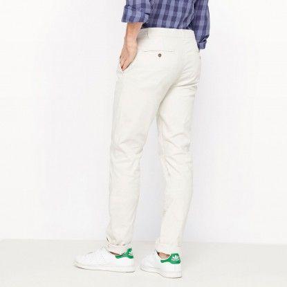 Pánske nohavice R ESSENTIEL             - biela