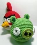 Amigurumi Green Pig : Angry birds, Amigurumi patterns and Amigurumi on Pinterest