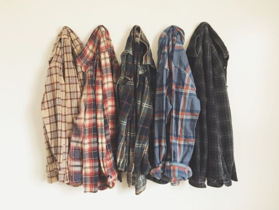 Vintage Soft Oversized Flannel Shirt | Choose Size + Color | Hipster Grunge Boho Cozy Fall