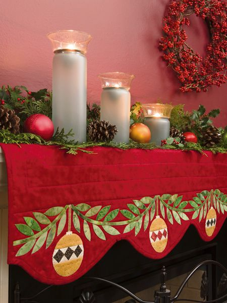 Decorate your fireplace with quilts