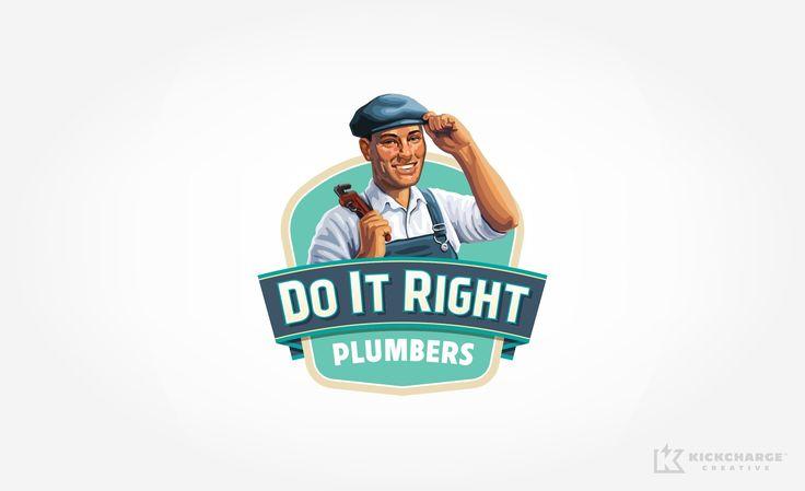 Logo design for Do It Right Plumbers. - NJ Advertising Agency, NJ Ad Agency, NJ Truck Wrap Design, NJ Logo Design, HVAC Logo Design, HVAC Logo | KickCharge® Creative #logo #branding #brand #logos #bestlogos #bestbranding #advertising #design #graphicdesign #brands