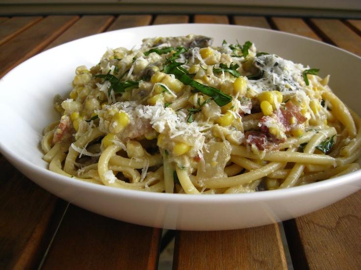 A Taste of Home Cooking: Summer Sweet Corn Fettuccine