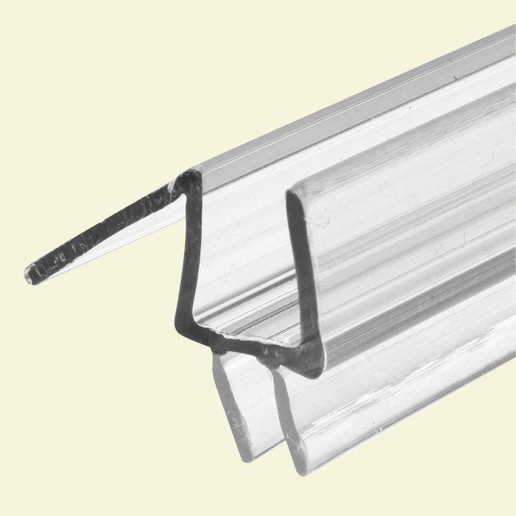 Prime Line 3 8 In X 36 In Clear Glass Door Bottom Seal Fits Frameless Door M 6258 Glass Shower Doors Frameless Shower Doors Shower Doors