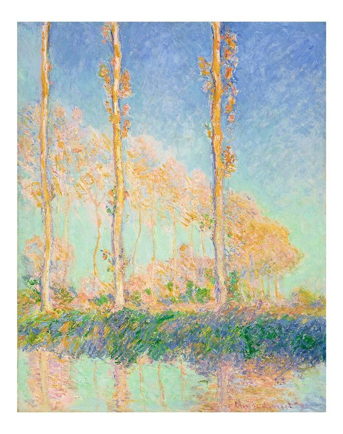 Poplars at Philadelphia by Claude Monet Giclee Fine ArtPrint Repro on Canvas
