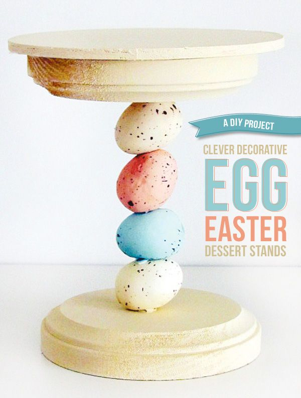 Easter DIY: Mini Decorative Egg Dessert Stands: Decor Eggs, Decorative Eggs, Minis Decor, Eggs Desserts, Easter Crafts, Easter Desserts, Easter Eggs, Desserts Stands, Easter Ideas