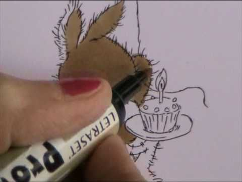 HOW TO COLOUR IN A LIGHT BROWN ANIMAL WITH PROMARKER OR COPIC PENS