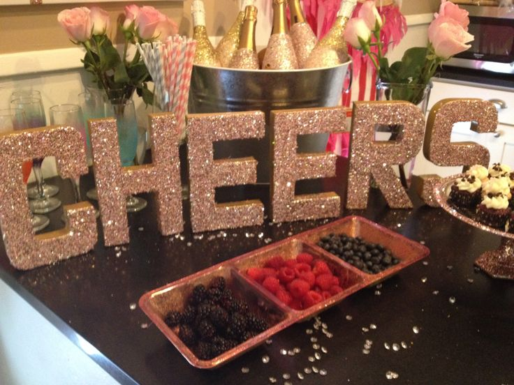 paper mch letters from hobby lobby covered in gold silver and pink glitter
