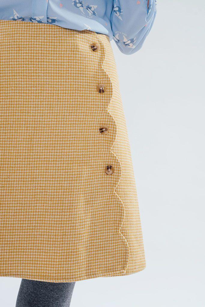 Lake District Skirt (Mustard) - Miss Patina - Vintage Inspired Fashion