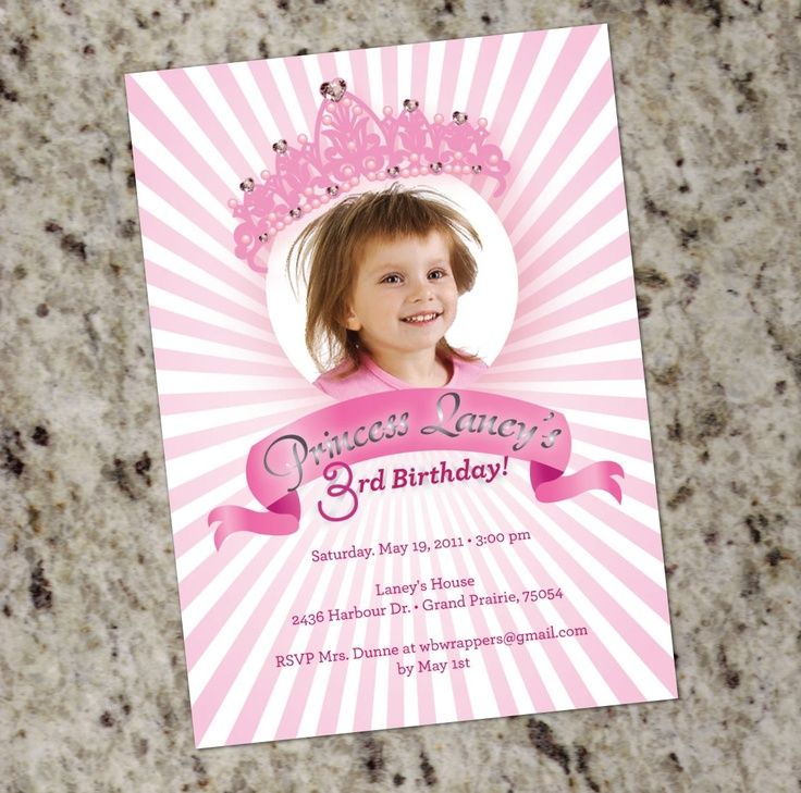 first birthday invitation for my son%0A Princess Crown