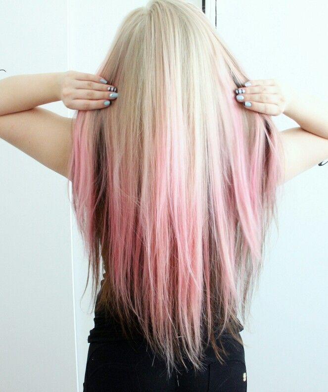 Pastel pink blonde ombre hair Instagram: @ellaelba
