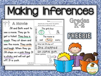 Free Close Reading - Making Inferences - Text Evidence - Reading Comprehension