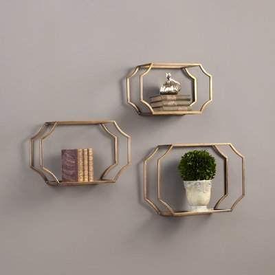 Willa Arlo Interiors Vansickle 3 Piece Wall Glass Shelf Set Willa Arlo Interiors   – Products