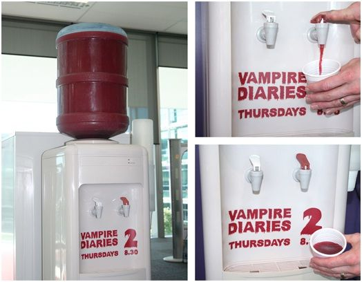 Excellent use of consumer involvement in an advertisement for 'Vampire Diaries'. This avert is not only informative about the show but involves consumers on a more interactive level making it a very memorable ad.