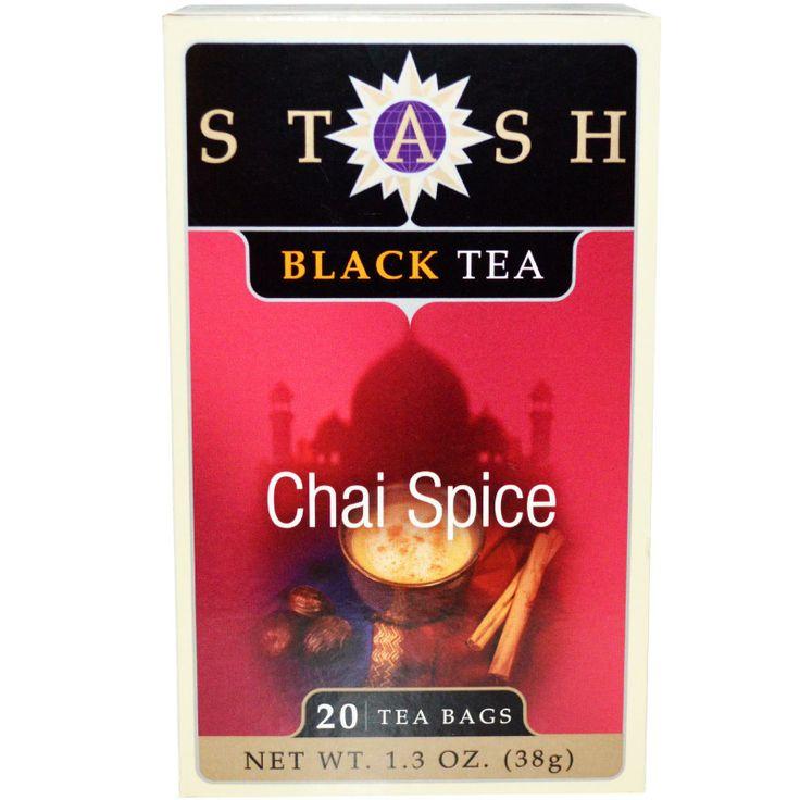 seash tea | Stash Tea Company, Black Tea, Chai Spice, 20 Tea Bags, 1.3 oz (38 g)