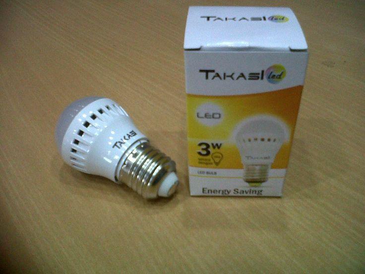 Lampu led Takasi 3 Watt  setara 30 watt..... Harga Promo..... Super Murah Rp.15.000,- Buruan stok terbatas....Hanya di   YORIYUKI Shop | Tokopedia https://m.tokopedia.com/yoriyukishop/lampu-led-takasi-3-watt