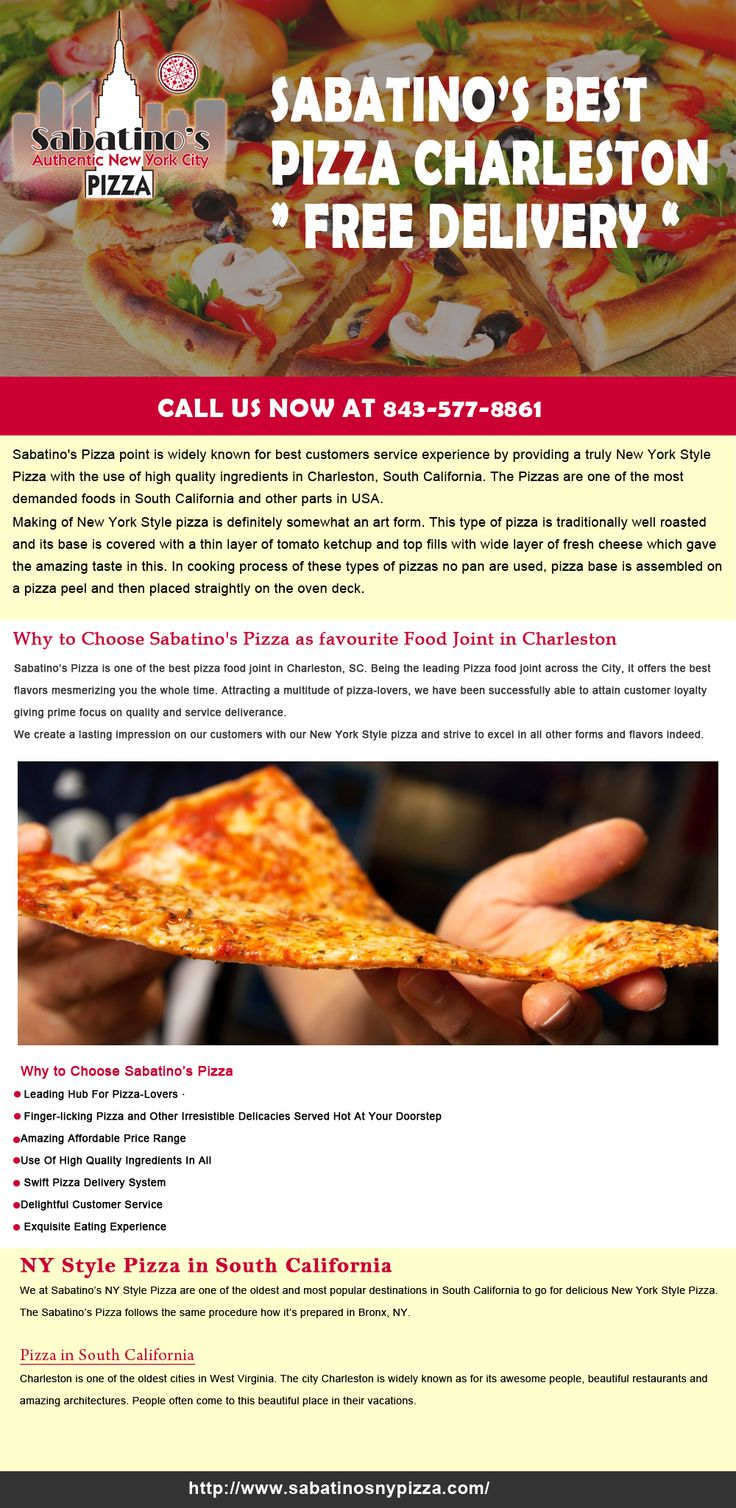 Best New York Style Pizza Online at http://www.sabatinosnypizza.com/