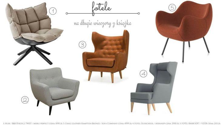 Fotele - kilka propozycji na dłuuuugie zimowe wieczory ;)  Ano Studio - Architekt Wnętrz