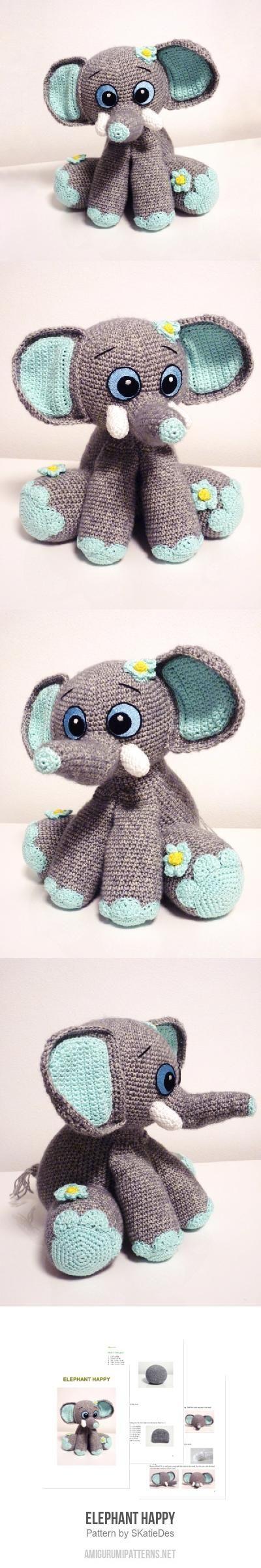 Elephant Happy amigurumi pattern
