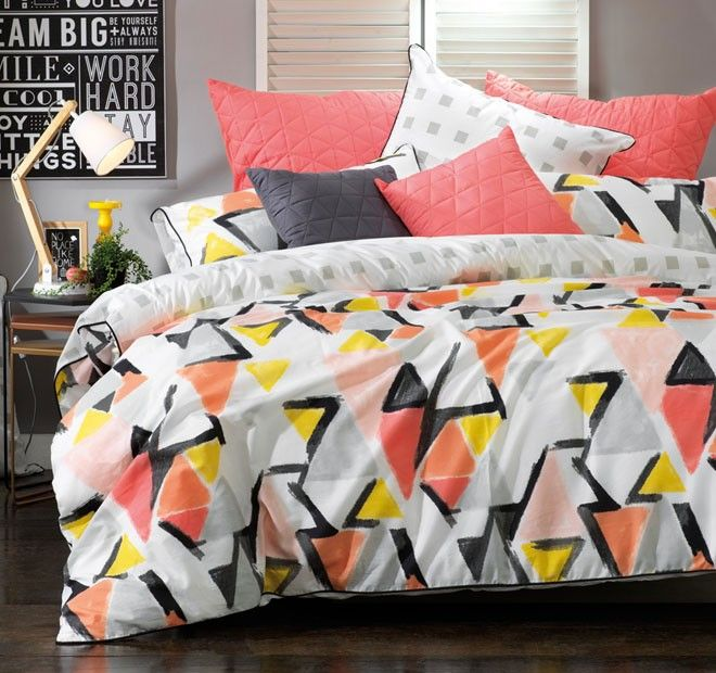 Hadley Quilt Cover Set Range Multi - Shop