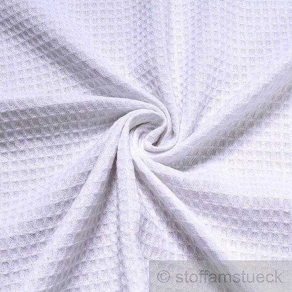 fabric pure cotton honeycomb weave white waffle - weave Piqué