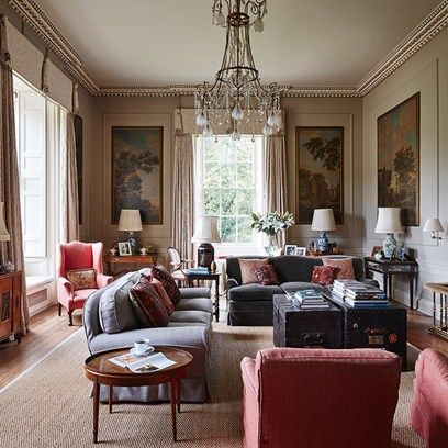 See all our stylish living room design ideas on HOUSE by House & Garden, including this elegant drawing room in a Scottish mansion.